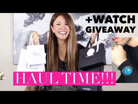 HAUL TIME! CHANEL & DIOR UNBOXINGS + JORD WATCH GIVEAWAY 2017