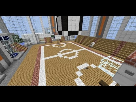 Minecraft Tutorial   How to Build a Basketball Court