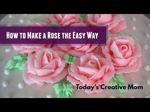 How to Make a Perfect Frosting Icing Rose with Jill