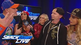 John Cena & Nikki Bella challenge James Ellsworth & Carmella: SmackDown LIVE: Feb. 28, 2017