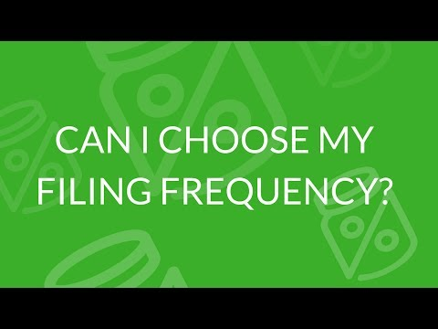 How do I determine my filing frequency or payment schedule?