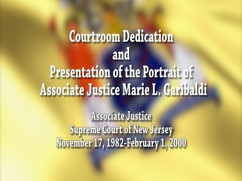 Garibaldi Courtroom Dedication and Portrait Presentation