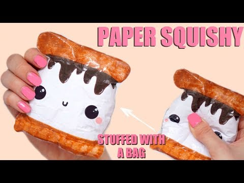 DIY PAPER SQUISHY   HOW TO MAKE A SQUISHY WITHOUT FOAM #21