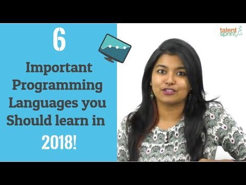 6 Important Programming Languages you Should learn in 2018 ! | TalentSprint