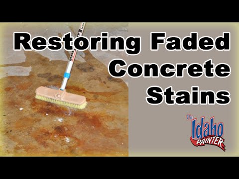 HOW TO RESTORE CONCRETE SEALER.  Restoring faded colored concrete.  Sealing stained concrete.
