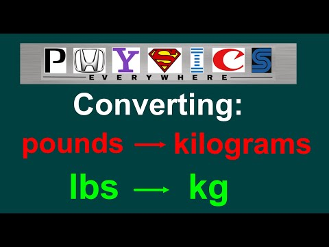 converting lbs to kg