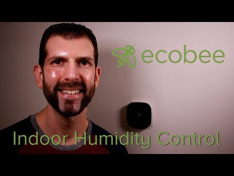 Ecobee humidity control setting thermostat tutorial