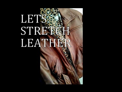HOW I STRETCH LEATHER JACKET to fit..with subtitles!