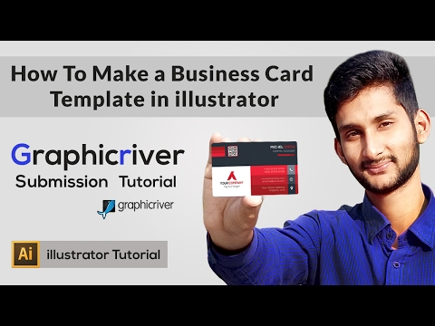 How To Make a Business Card Template in illustrator | Graphicriver Submission Tutorial