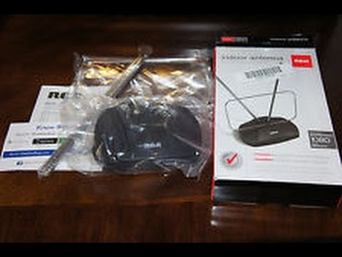 RCA Basic Indoor Antenna ANT111F Unboxing, Setup and Review