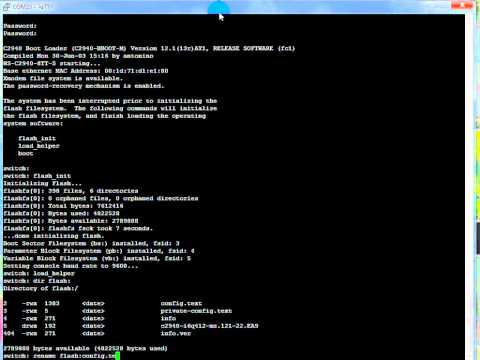 Cisco 2940 Password Recovery Procedure