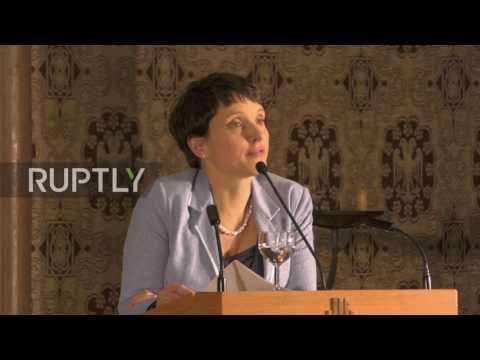 Germany: Petry discusses Trump's electoral success in address to AfD members
