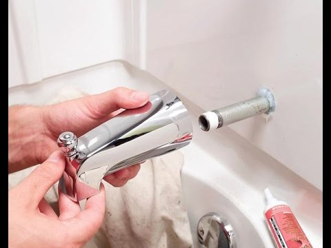 How to Replace a Bathtub Spout | Home Plumbing Repair Video Series