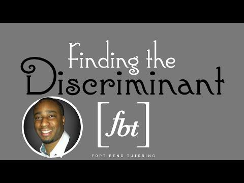 Solving Quadratic Equations: Finding the Discriminant [fbt]