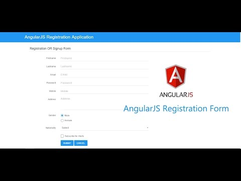 How to Make a Registration Application using AngularJS
