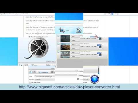 DAV Converter - How to Convert DAV to AVI, MP4, MPEG, WMV, MP3, and WAV to Play DAV Files?