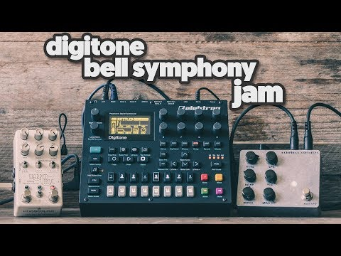 ELEKTRON DIGITONE - a bell symphony jam (feat. some fx pedals)