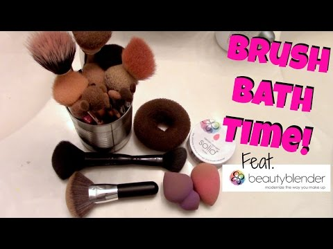 How I Clean My Brushes | Beauty Blender Solid Cleanser