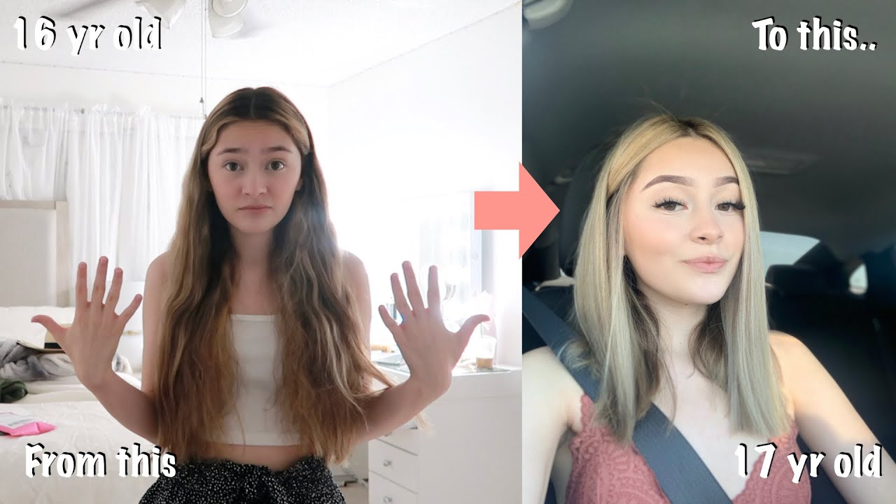 My EXTREME transformation for my 17th birthday *chopped off my hair*