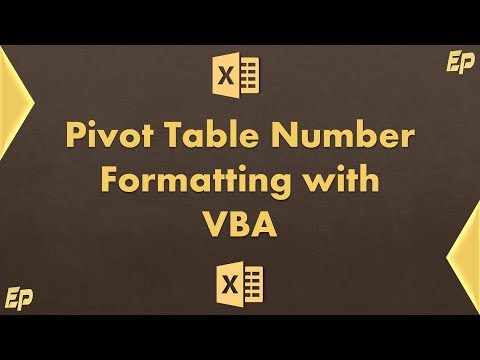 Excel Pivot Table Number Formatting with single click (Excel VBA)