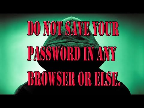How to view save password in the computer.