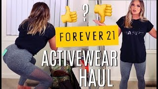 FOREVER 21 ACTIVEWEAR HAUL & FIRST IMPRESSIONS! HIT OR MISS?    Casey Holmes