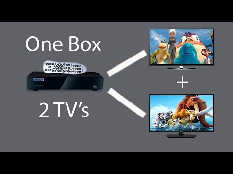 Watch 2 TV's with one Set Top Box(Using a single wire)