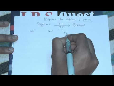 How to convert degrees to radians in 10sec without calculator[Hindi]