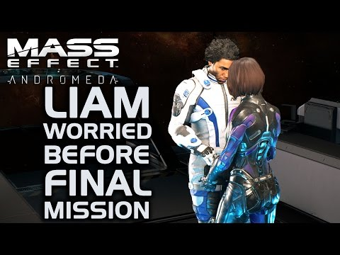 Mass Effect Andromeda - Liam Worried Before Final Mission (All Dialogue Options)