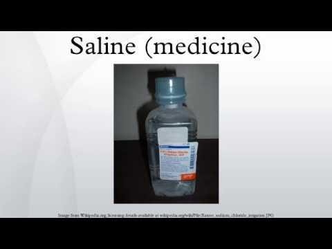 Saline (medicine)