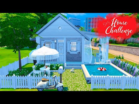 5x5 TINY STARTER HOUSE Sims 4 || Challenge || Simsbiosis