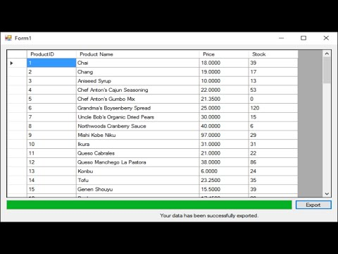 C# Tutorial - How to Export DataGridView To Excel File | FoxLearn