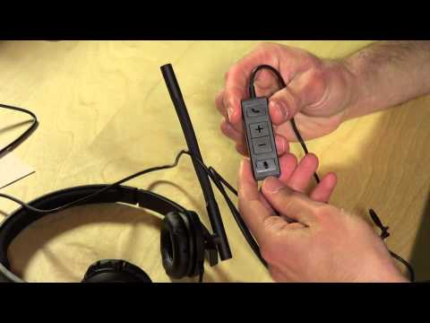 Logitech USB H570e Corded Double-Ear Headset Review and audio sample - 981-000574