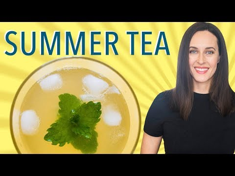 Green Tea Mint Punch - My Summer Tea - Non-Alcoholic Summer Drink Sweetened with Dates