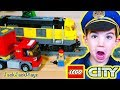 Lego City Train Unboxing Pretend Play Police Intro Skit
