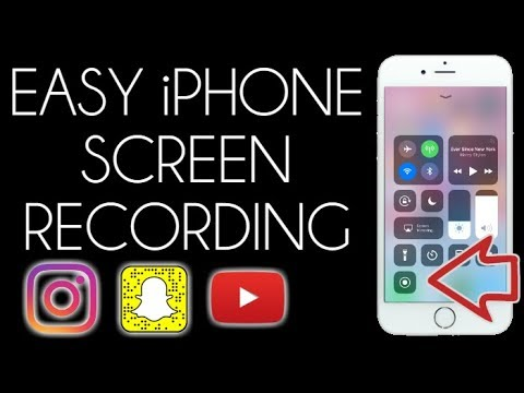 How to Record an iPhone Screen (iOS 11) Snapchat + Instagram Stories
