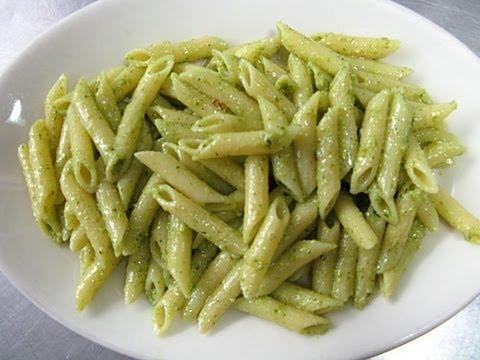 Pasta with pesto sauce- italian recipe