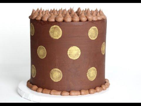 Polka Dot Ganache Cake