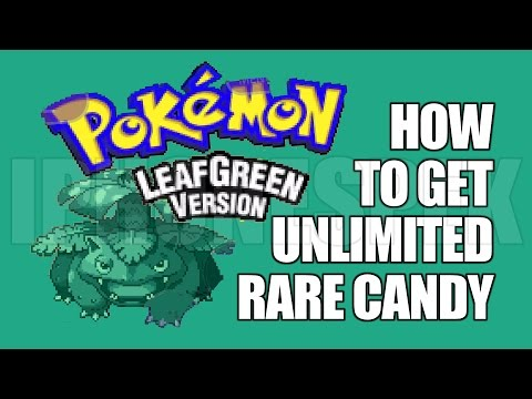 How to get Unlimited Rare Candy Pokemon Leaf Green GBA4IOS iOS 11 10 9 iPhone iPad