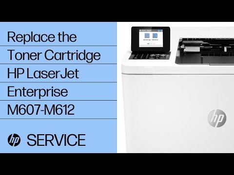 How to Replace the Toner Cartridge HP LaserJet Enterprise M607, M608, M609 Series