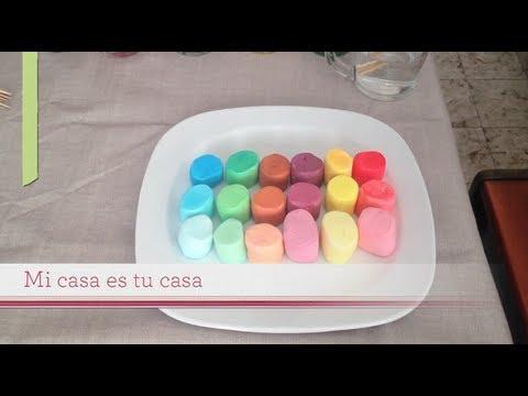 DIY Cómo pintar bombones o malvaviscos - paint  marshmallows