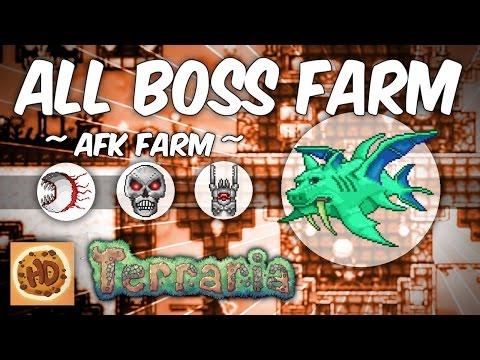 Terraria 1.3 AFK Boss Farm | Golem | Duke Fishron | Twins | Skeletron Prime | Destroyer