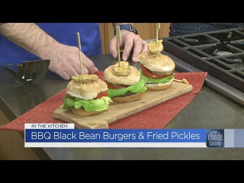In the Kitchen: BBQ Black Bean Burgers with Fried Pickles
