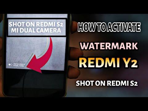 Redmi Y2: Activate Watermark, Shot on Mi Dual Camera
