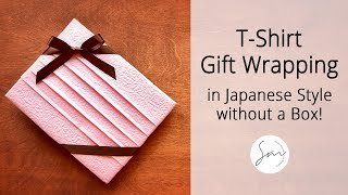 Simple & Beautiful Gift Wrapping for T-Shirt and More!