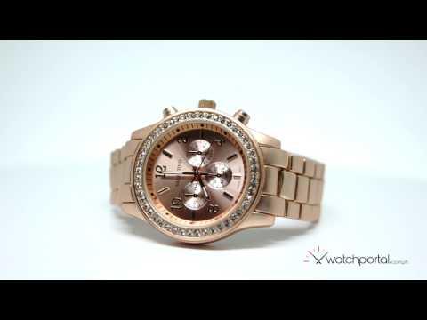 Valentino EXCALIBUR IP JUNIOR WOMEN STAINLESS BAND Strap Watch 20121726-ROSE GOLD