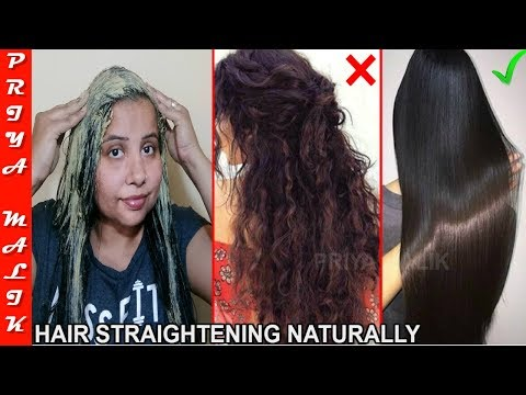 Only In 15 Min. Permanent Hair Straightening at Home with all Natural Ingredients - Priya Malik