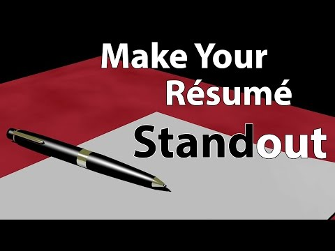 Make Your Resume Standout
