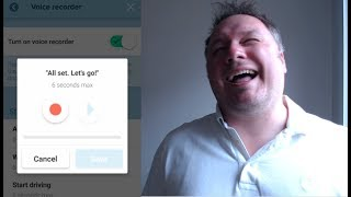 Doug records his own voice in Waze