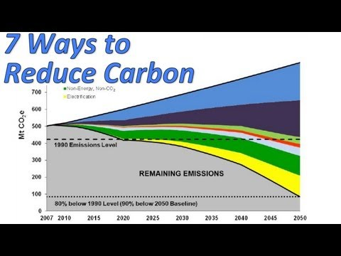 Seven ways to reduce carbon (to the tune of